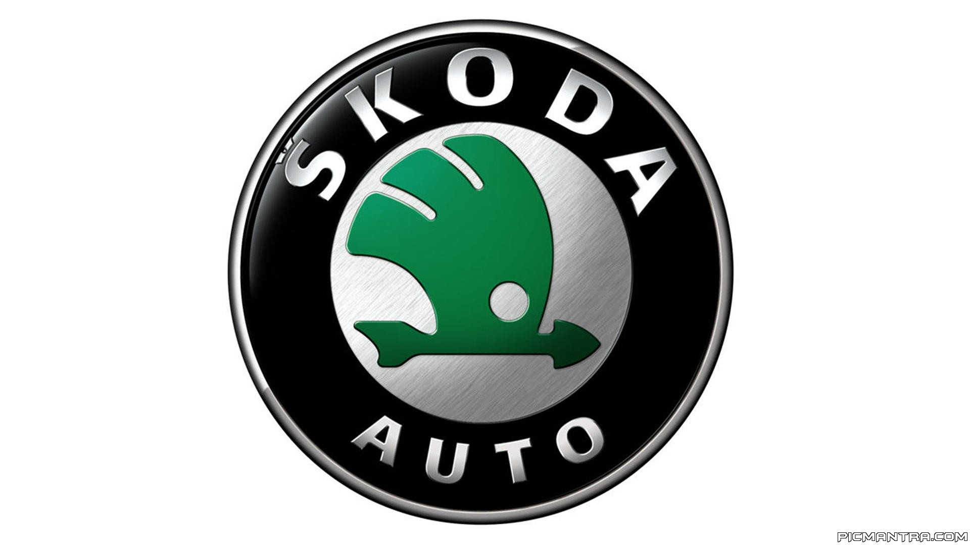 Skoda logo hd wallpaper
